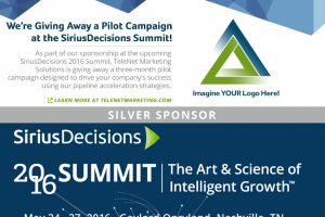 TeleNet is Giving Away a Pilot Campaign at Upcoming SiriusDecisions Summit